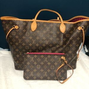 Authentic LV Neverfull GM tote bag